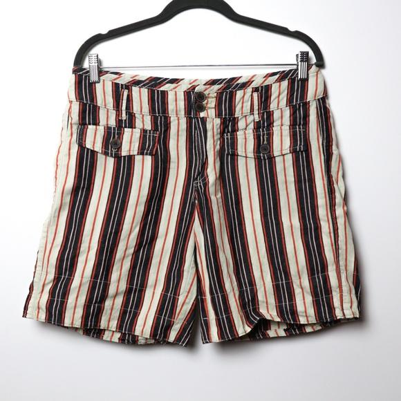 Anthropologie Pants - Hei Hei   Anthro Espalande Linen Roll Shorts 10